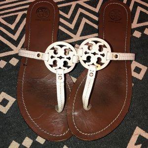Tory Burch Logo Sandal 9 White